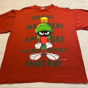 Vintage Marvin the Martian oversized brick red graphic tee by Novel Teez size M